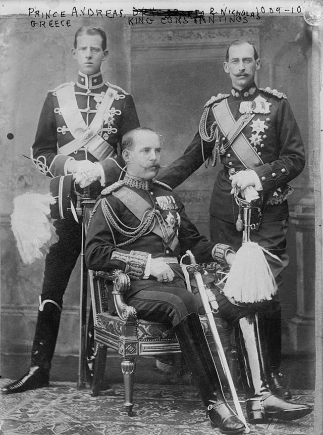 01 1910 MA Princes Andrew Constantine and Nicholas of Greece