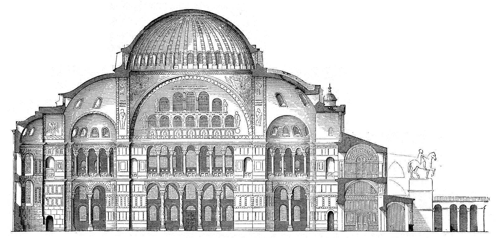 01 Hagia Sophia Laengsschnitt web