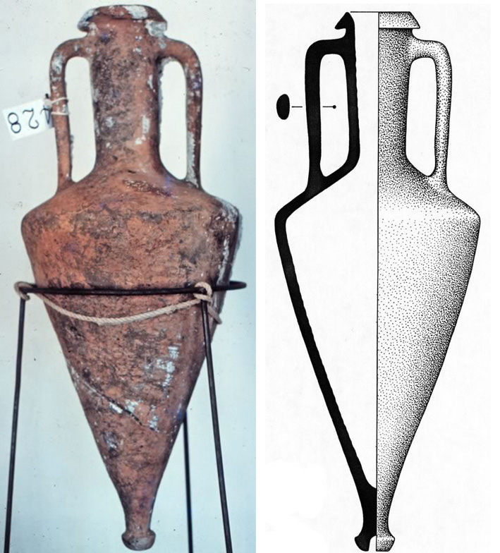 05 Mesa Typical conical Type I Rhodian amphora c. 90cm tal amph428typ